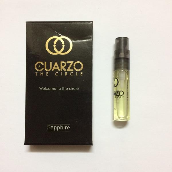 سمپل عطر زنانه-مردانه کوارزو سافایر Cuarzo Sapphire Sample